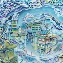 龍姫湖図アップ